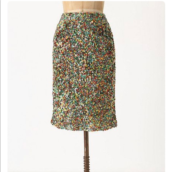 6ecf4c1a3c Anthropologie Dresses & Skirts - Carnation Lily Lily Rose Sequined Colored  Skirt